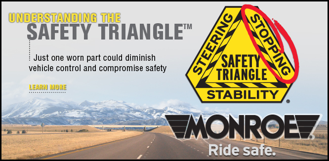 MONROE BRAKES®: Safety Triangle™