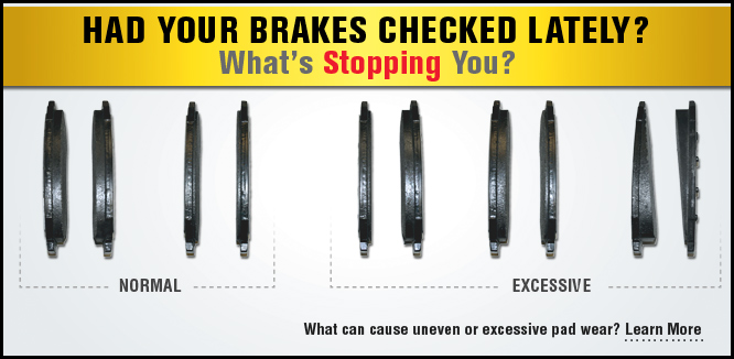 MONROE BRAKES®: Common Pad Wear Conditions
