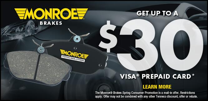MONROE BRAKES®: Promociones