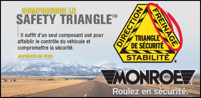 MONROE BRAKES®: Triangle de sécurité™