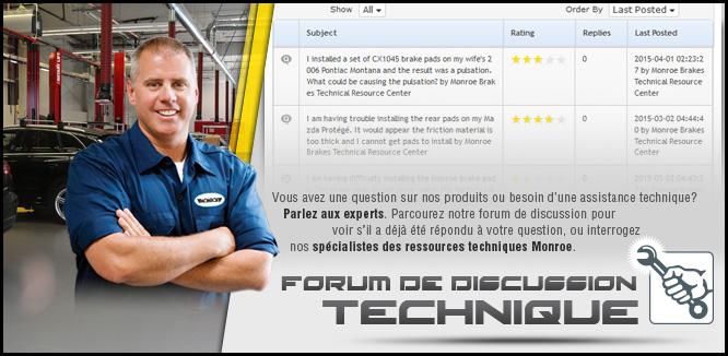 MONROE BRAKES®: Forum de discussion technique