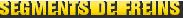 MONROE BRAKES®: Segments de freins
