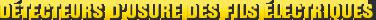 MONROE BRAKES®: Détecteurs d'usure des fils électriques