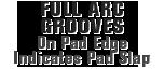 MONROE BRAKES®: Full Arc Grooves On Pad Edge Indicates Pad Slap