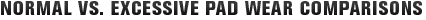 MONROE BRAKES®: Normal vs. Excessive Pad Wear Comparisons
