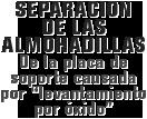 """MONROE BRAKES®: Separación de las almohadillas De la placa de soporte causada por """"levantamiento por óxido"""""""