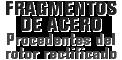 MONROE BRAKES®: Fragmentos de acero Procedentes del rotor rectificado