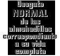 MONROE BRAKES®: Desgate NORMAL de las almohadillas correspondiente a su vida completa